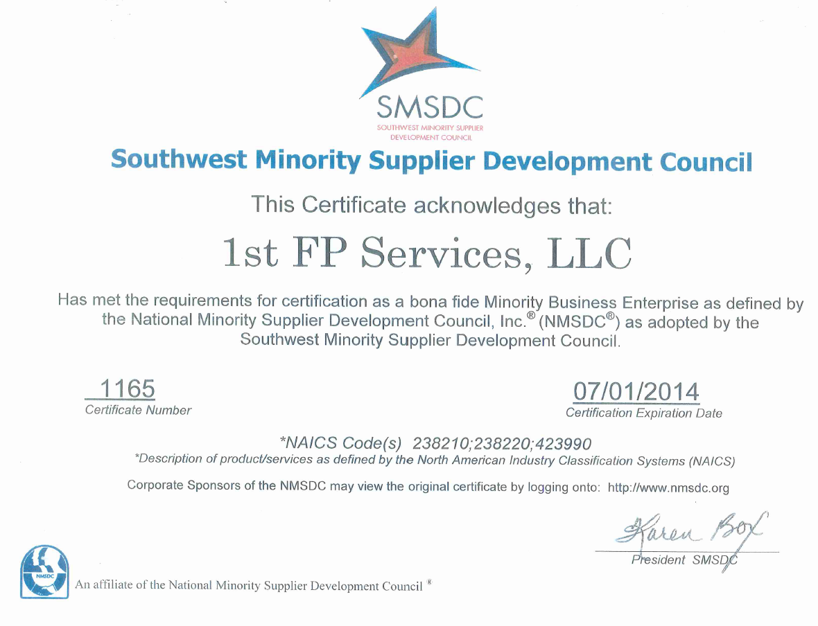 mbe certification licenses certificates nmsdc